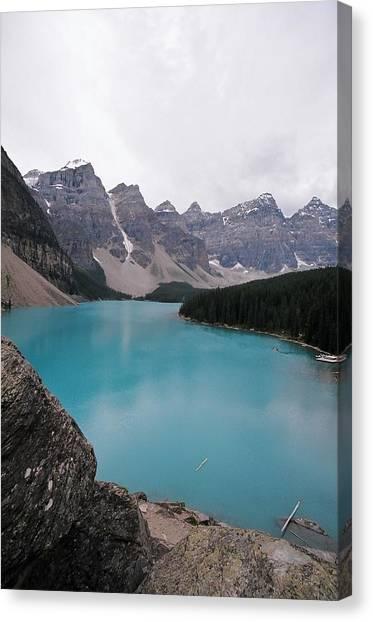 Lake Moraine Canvas Print by Caroline Clark