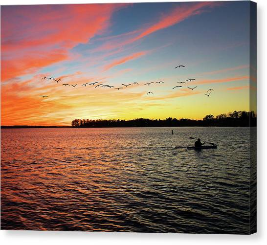 Lake Murray Fisherman Canvas Print