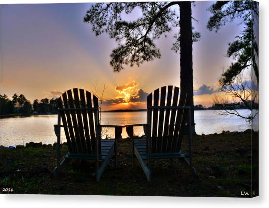 Lake Murray Relaxation Canvas Print
