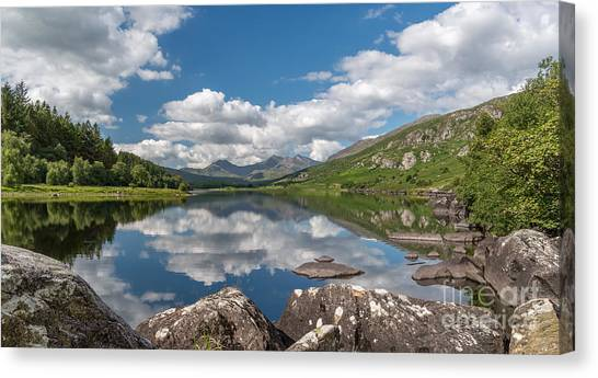 Cloud Forests Canvas Print - Lake Mymbyr Rocks by Adrian Evans