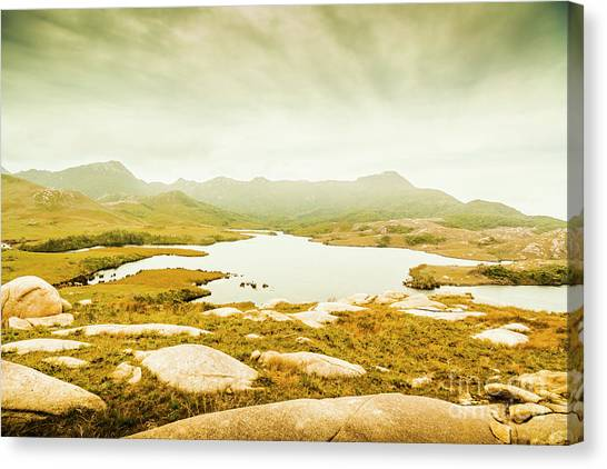 Mountain Ranges Canvas Print - Lake On A Mountain by Jorgo Photography - Wall Art Gallery