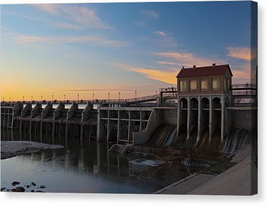 Lake Overholser Dam Canvas Print