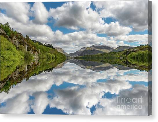 Cloud Forests Canvas Print - Lake Padarn Snowdonia by Adrian Evans