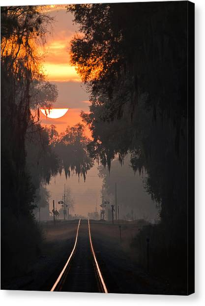 Lake Park Sunrise Canvas Print