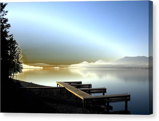 Lake Pend D'oreille Fantasy Canvas Print