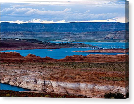 Lake Powell Canvas Print by Larry Gohl