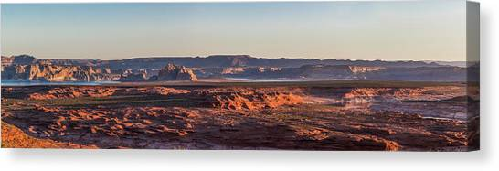 Lake Powell Sunrise Panorma Canvas Print