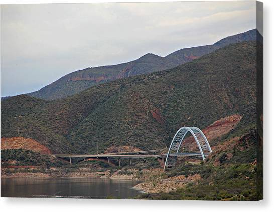 Lake Roosevelt Bridge 2 Canvas Print