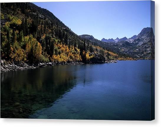 Lake Sabrina Fall Color Canvas Print by Don Kreuter