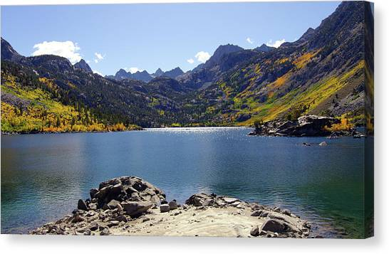 Lake Sabrina In Fall Colors Canvas Print