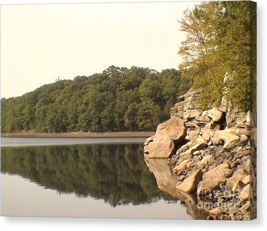 Lake Scranton Reflections Canvas Print by Daniel Henning