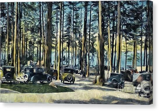 Lake Shore Park - Gilford N H Canvas Print