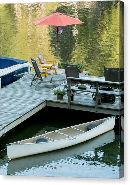 Lake-side Dock Canvas Print