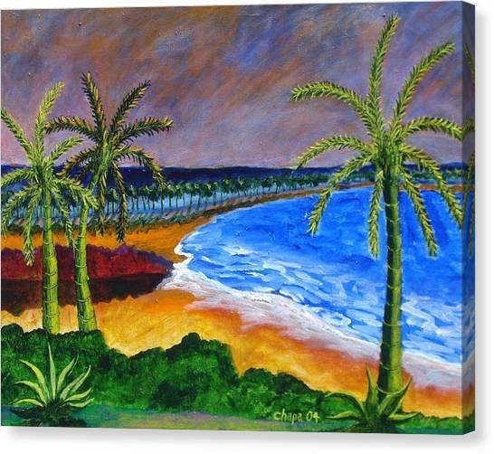 Lake Side Park Canvas Print