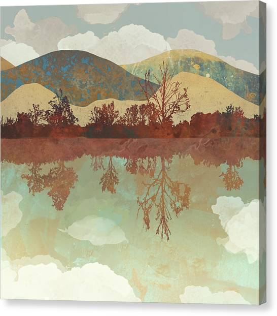Landscapes Canvas Print - Lake Side by Spacefrog Designs