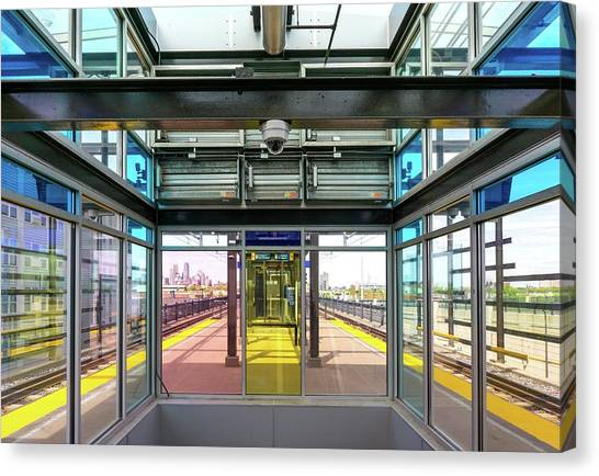 Minnesota Twins Canvas Print - Lake Street Light Rail Station  by Jim Hughes