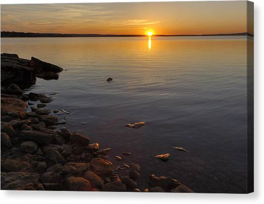 Lake Sunset Canvas Print