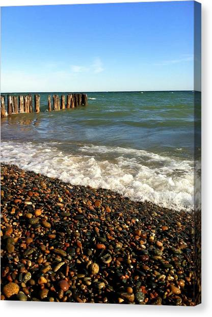 Lake Superior At Whitefish Point Canvas Print