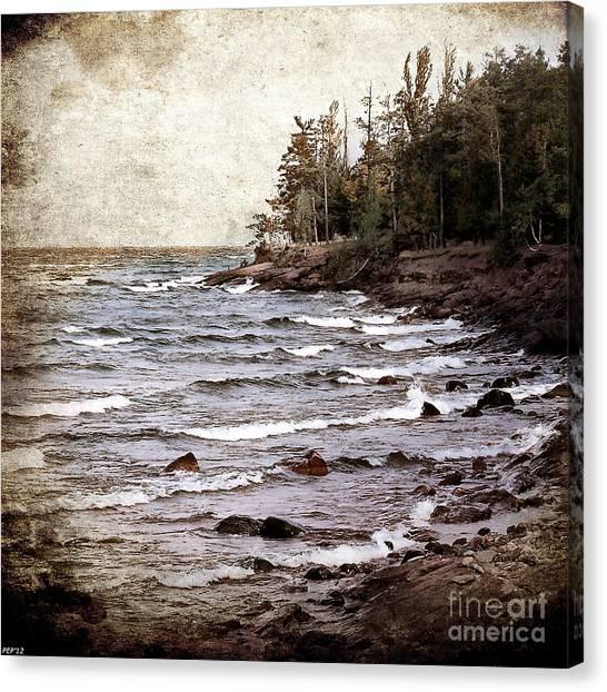 Lake Superior Waves Canvas Print
