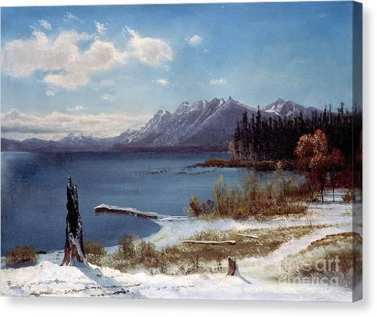 Tahoe Canvas Print - Lake Tahoe by Albert Bierstadt