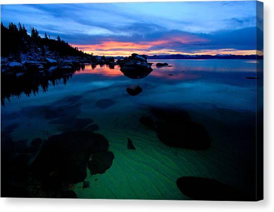 Lake Tahoe Clarity At Sundown Canvas Print