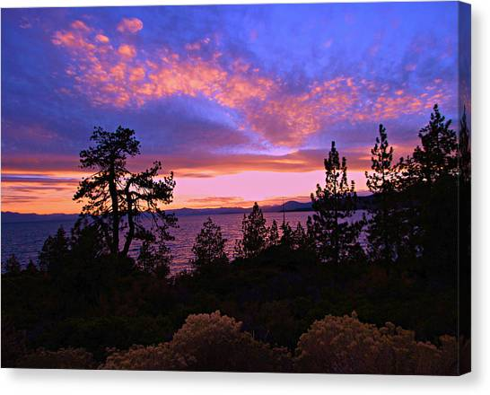 Canvas Print featuring the photograph Lake Tahoe Crescendo by Sean Sarsfield