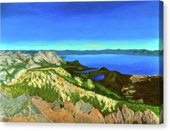 Lake Tahoe Panorama Canvas Print