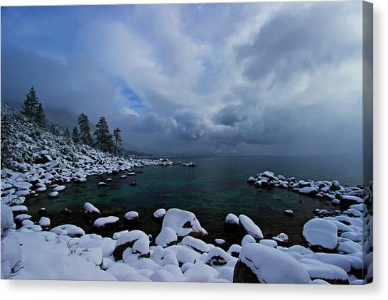 Lake Tahoe Snow Day Canvas Print