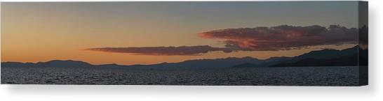 Lake Tahoe South Shore Panorama - 1 Canvas Print