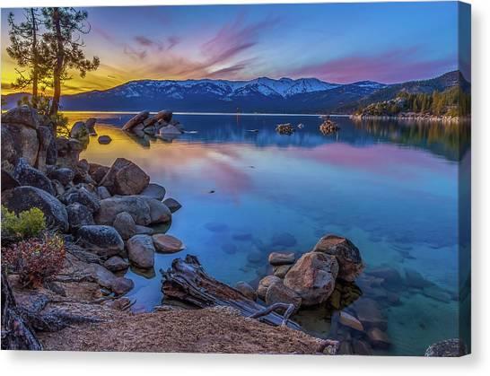 Lake Tahoe Spring Kaleidoscope  Canvas Print