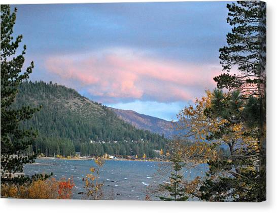 Lake Tahoe Sunset Canvas Print by Linda Sramek