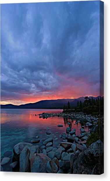 Lake Tahoe Sunset Portrait 2 Canvas Print