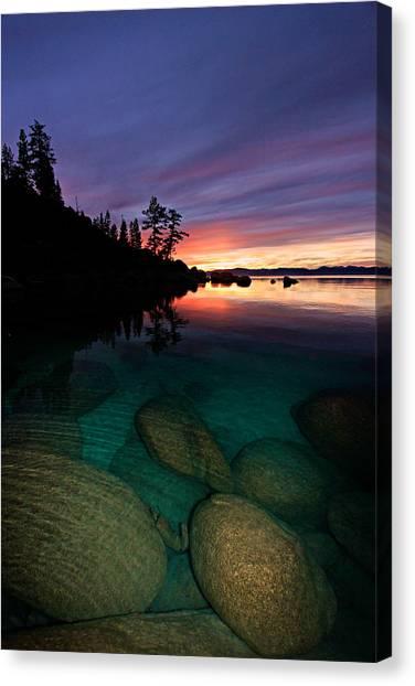 Lake Tahoe Sunset Portrait Canvas Print
