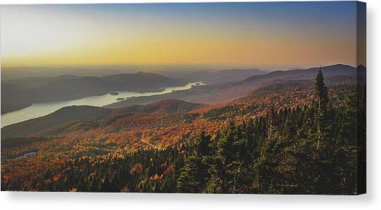 Lake Tremblant At Sunset Canvas Print