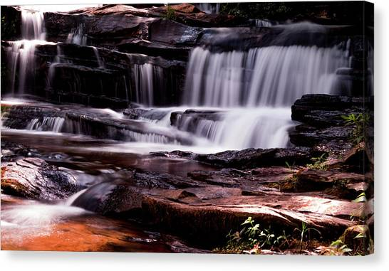 Lake Waterfall Canvas Print