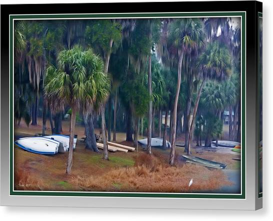 Lake Wauburg Rain Canvas Print