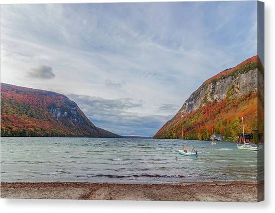 Lake Willoughby Blustery Fall Day Canvas Print
