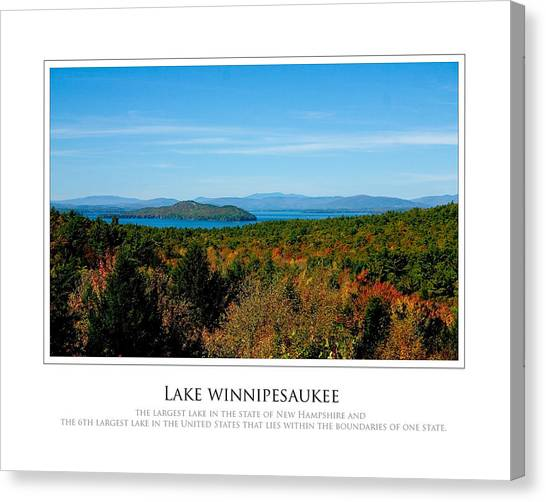 Lake Winnipesaukee - Fall Canvas Print by Jim McDonald Photography