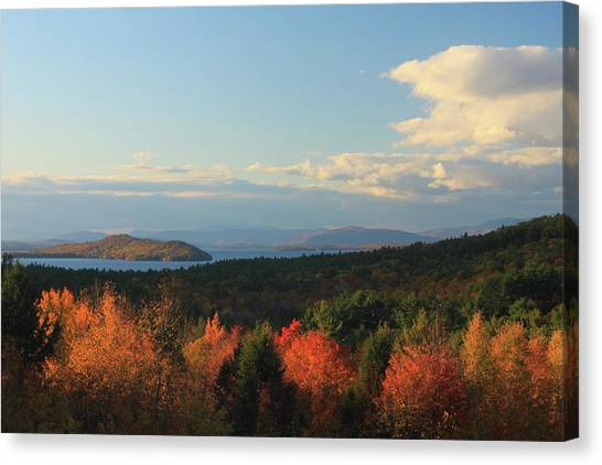 Lake Winnipesaukee Overlook In Autumn Canvas Print