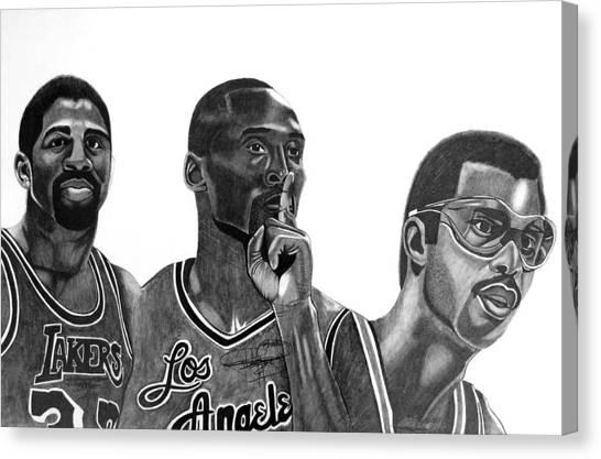 Magic Johnson Canvas Print - Laker Greats by Keeyonardo