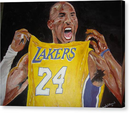 Kobe Bryant Canvas Print - Lakers 24 by Daryl Williams Jr