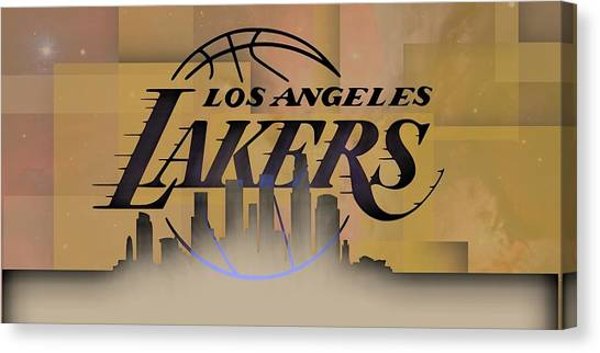 Lakers Skyline Canvas Print
