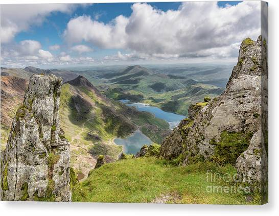 Glaslyn Canvas Print - Lakes Of Snowdonia by Adrian Evans