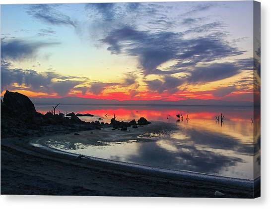 Canvas Print featuring the photograph Lakeshore Drive by Mike Trueblood