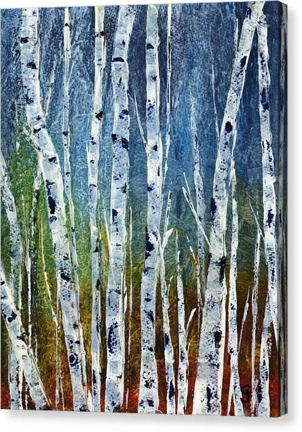 Canvas Print - Lakeside Birch by Cindy Johnston
