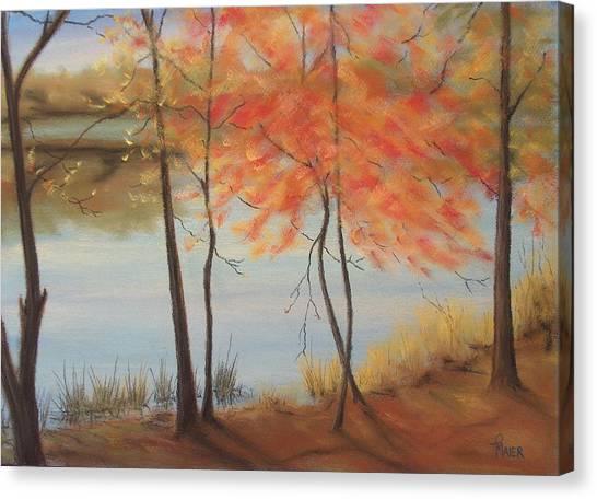 Lakeside Dancers IIII Canvas Print by Pete Maier