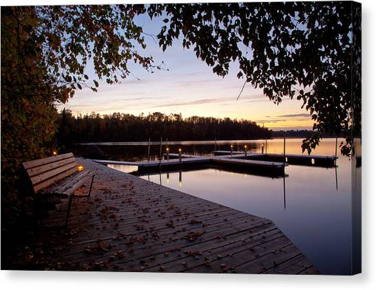 Lakeside In The North Woods Canvas Print