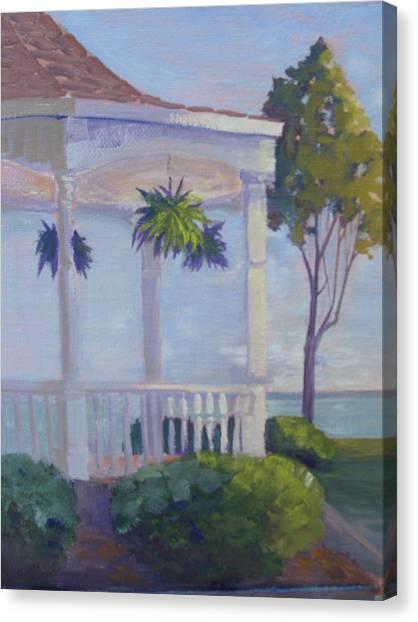 Lakeside Solitude Canvas Print by Judy Fischer Walton