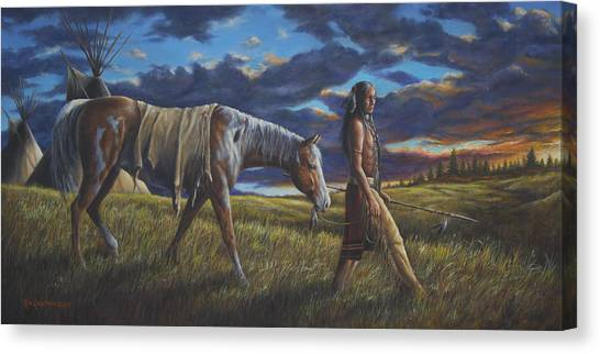 Lakota Sunrise Canvas Print