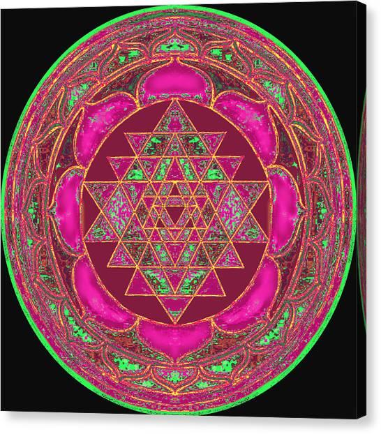 Hindu Goddess Canvas Print - Lakshmi Yantra Mandala by Svahha Devi